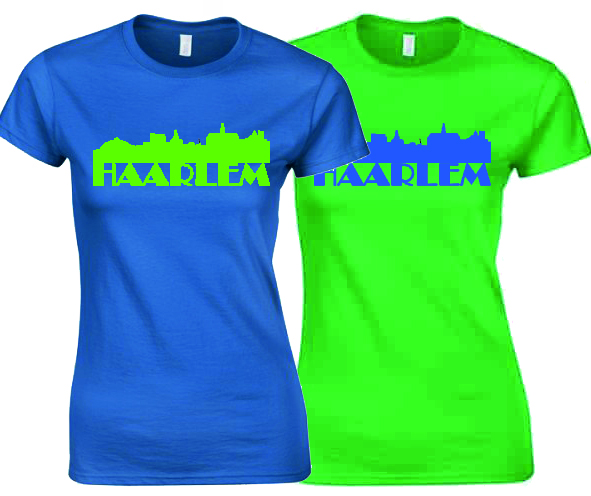 Product image MySkyline©Haarlem T-shirt by DailyLiving Irish green of Royal blue