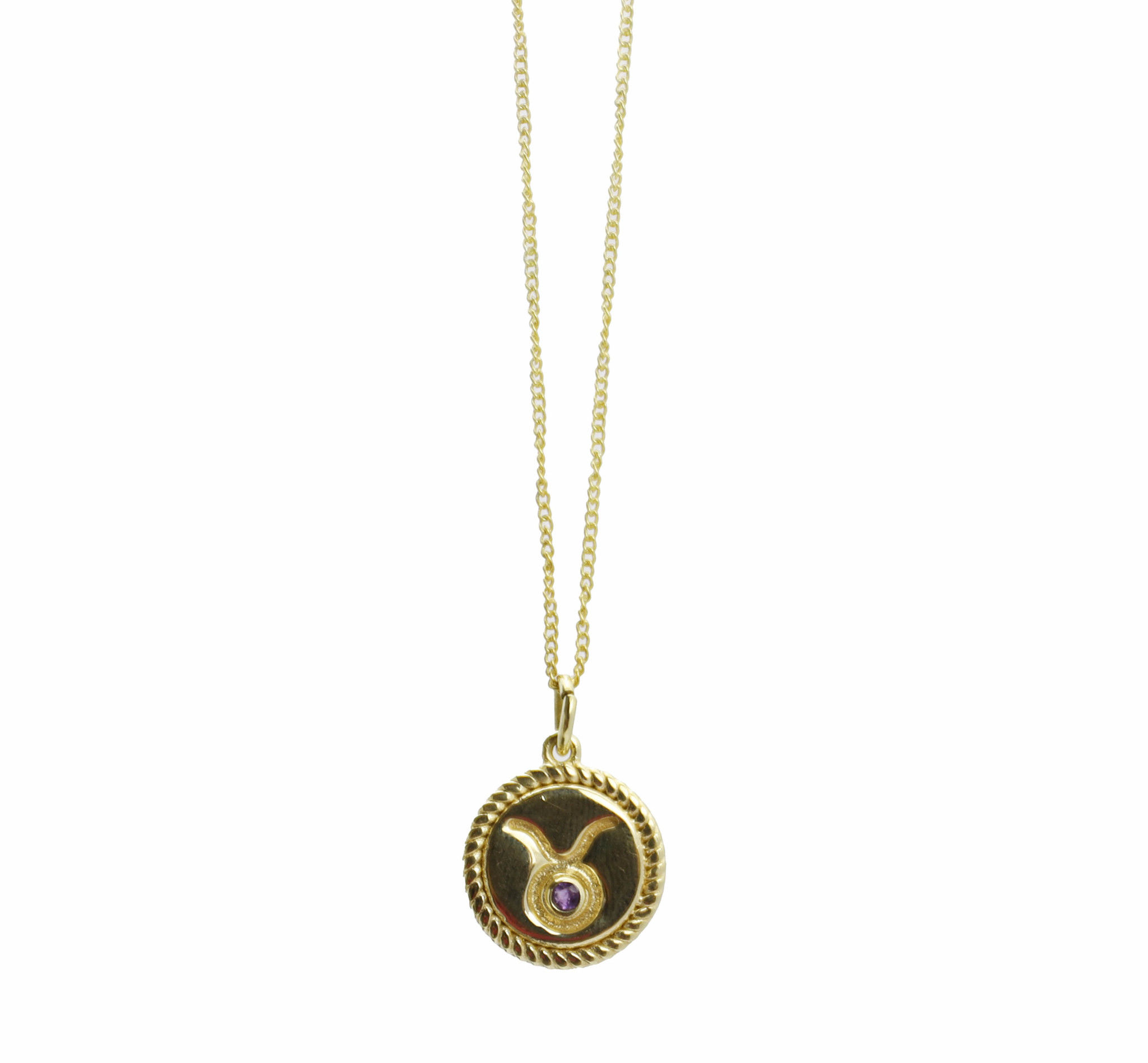 Product image Stier Sterrenbeeld ketting goud