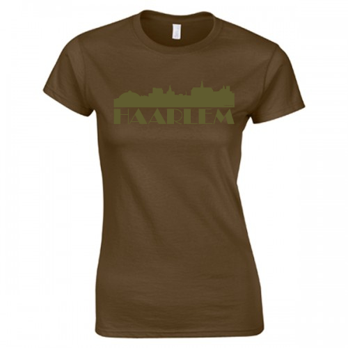 Product image MySkyline© Bruin/Leger Groen Haarlem T-shirt by DailyLiving – dames