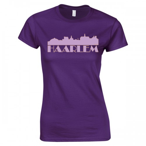 Product image MySkyline© Paars/Lila Paars Haarlem T-shirt by DailyLiving – dames