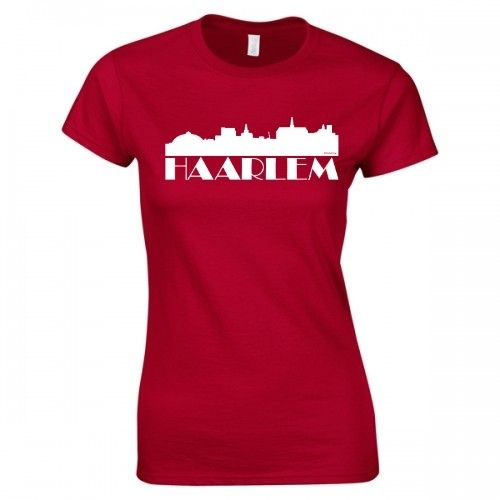 Product image MySkyline© Rood/Wit Haarlem T-shirt by DailyLiving – dames