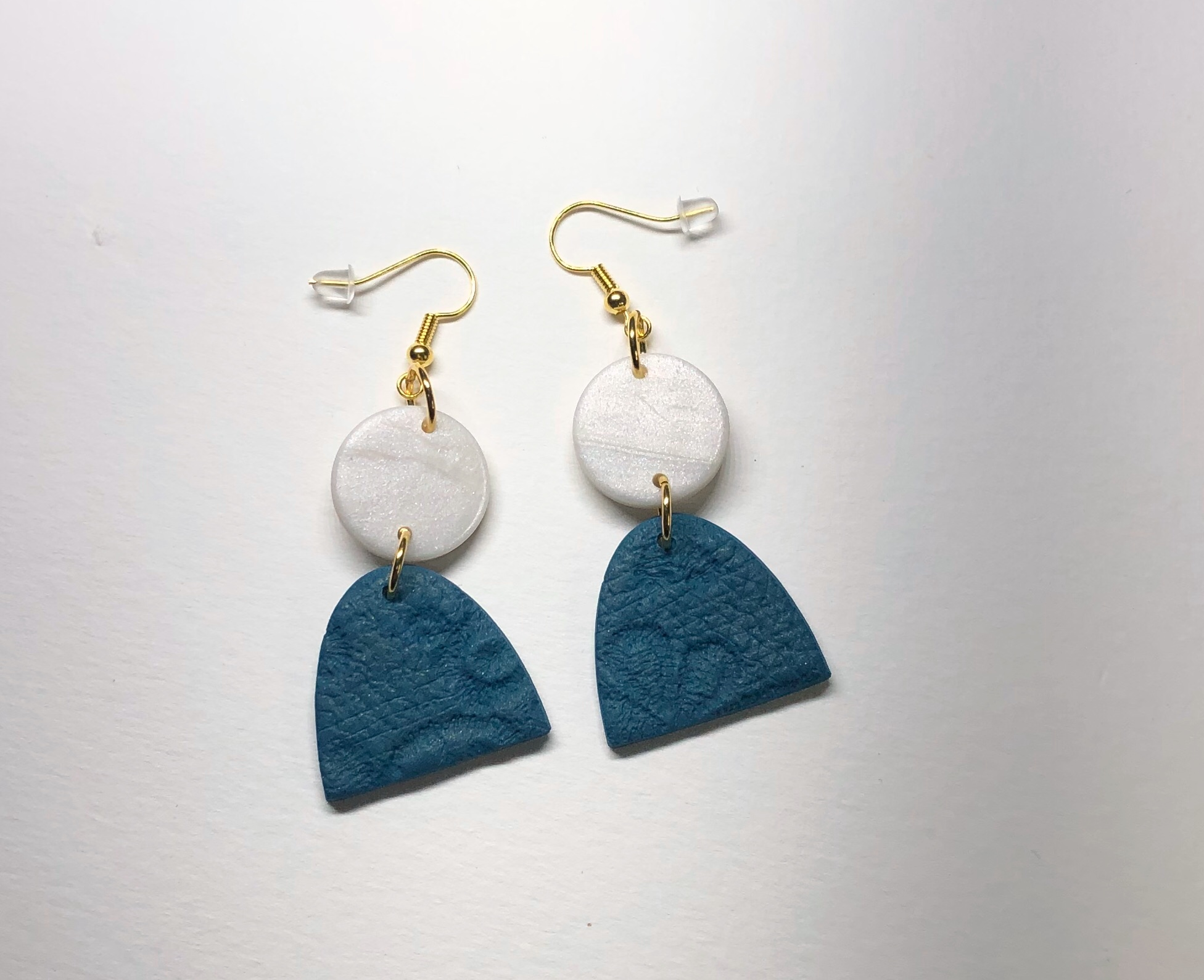 Product image Chantilly Drop Earring in Aegean Gold with Mother of Pearl