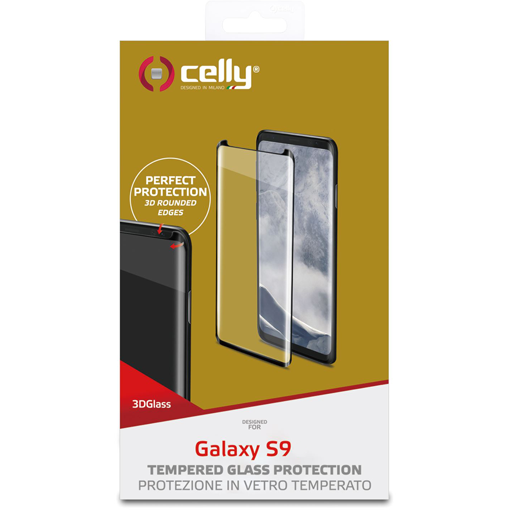 Product image Samsung Galaxy S9 – Celly 3D glass screenprotector