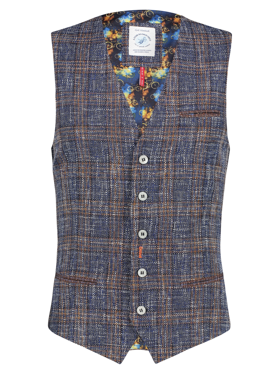 Product image Waistcoat Blue Brown Checked