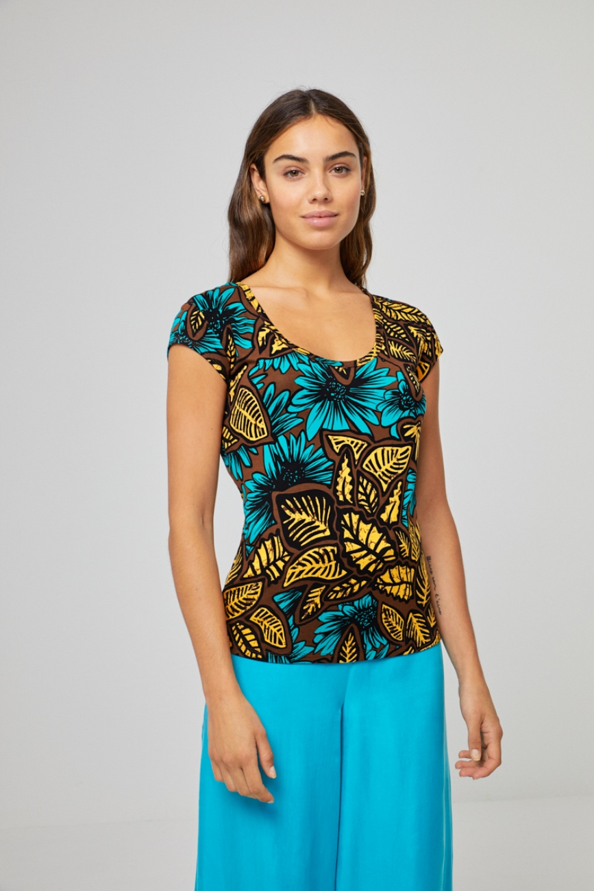 Product image Losser vallende viscose jersey top van Surkana