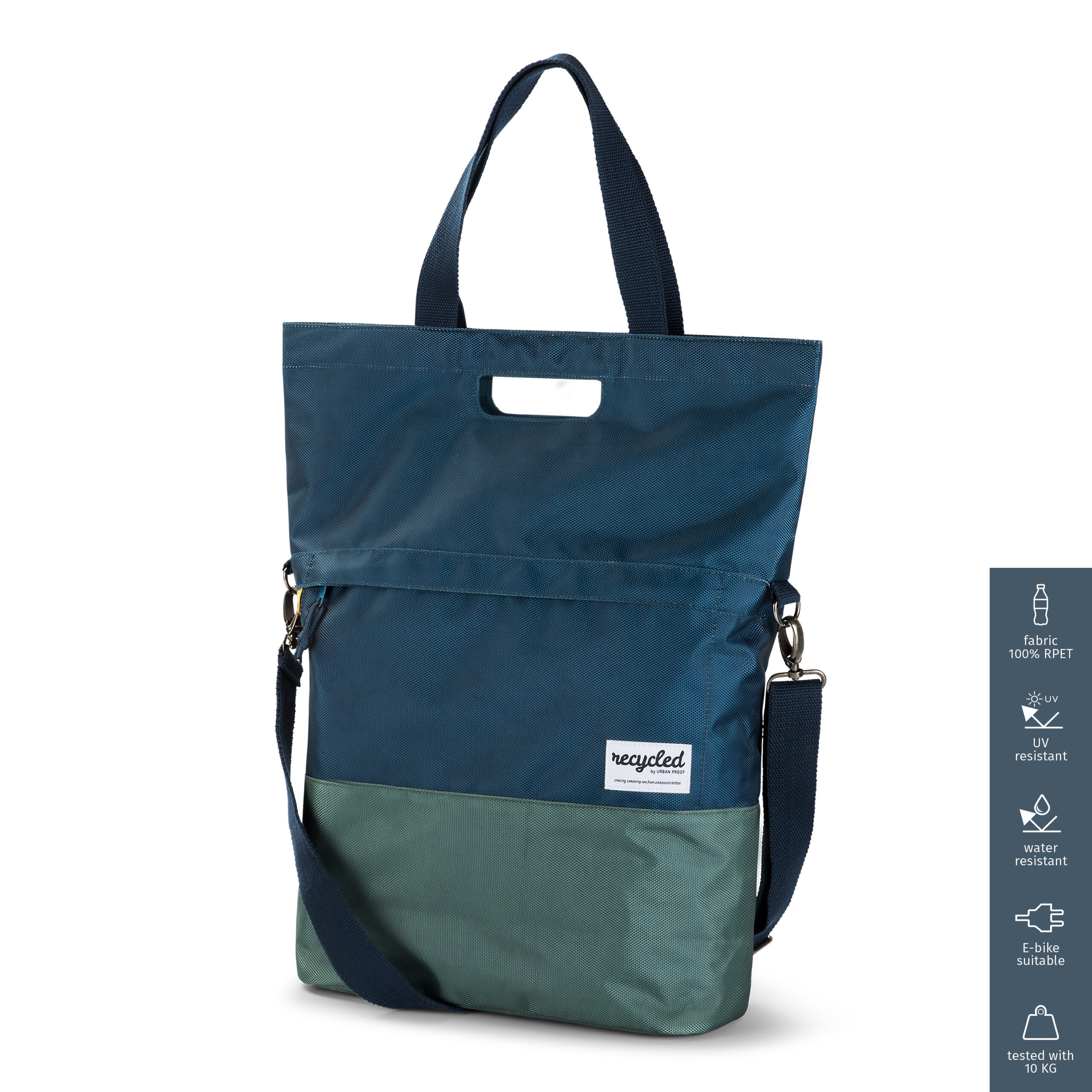 Product image Shopper Bicycle Bag 20L Recycled – Blue Green