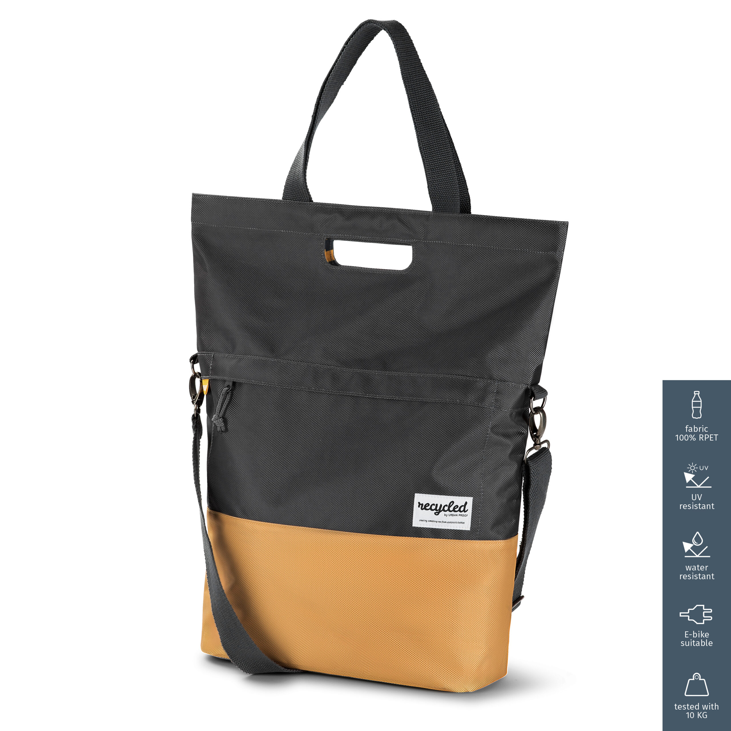 Product image Shopper Bicycle Bag 20L Recycled – Grey Yellow