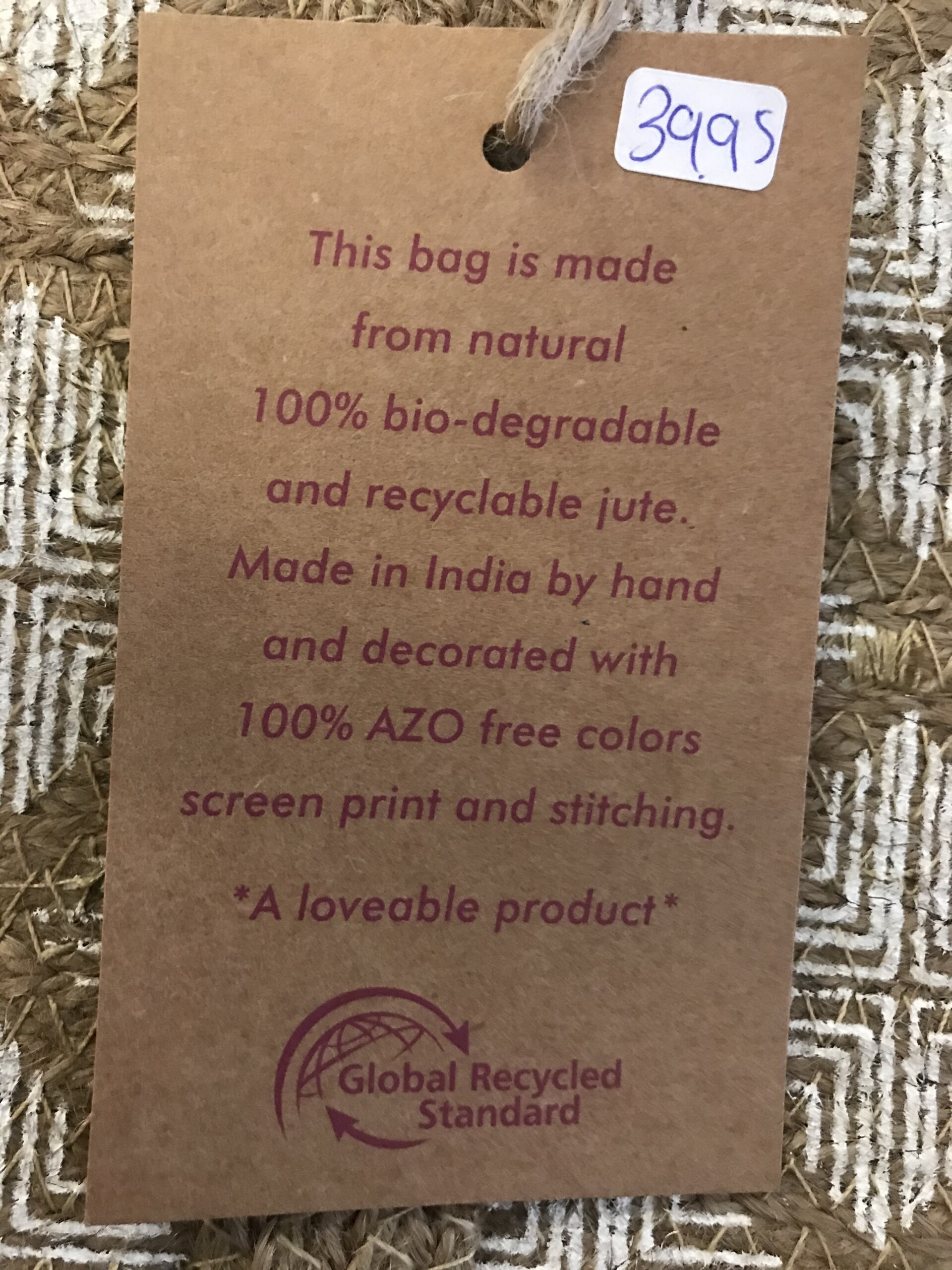 Product image Only Natural, Jute strand tas