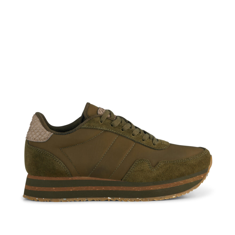 Product image Woden Dames Sneaker Nora III Plateau Olive